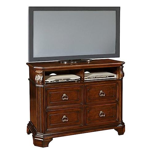 Lifestyle primrose media chest ivan smith furniture for Ivan smith furniture