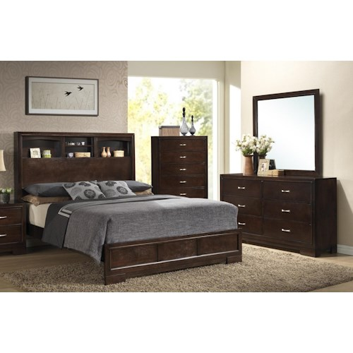 Home Bedroom Groups Lifestyle Frenchy Bookie Queen Bedroom Group