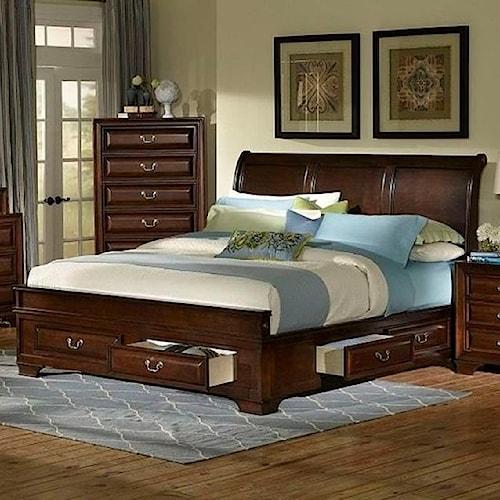 Lifestyle C2192 King Storage Bed Royal Furniture