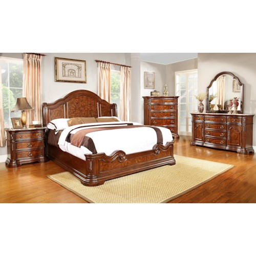 bedroom group with queen bed regency furniture bedroom group