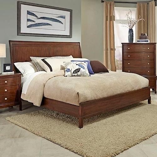 Lifestyle c7189 king low profile bed furniture fair for King furniture north carolina