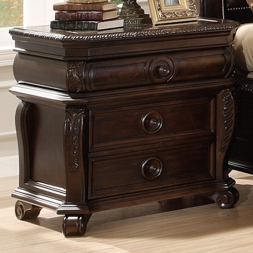 Home Insights Hillsboro Night Stand W/ 3 Drawers