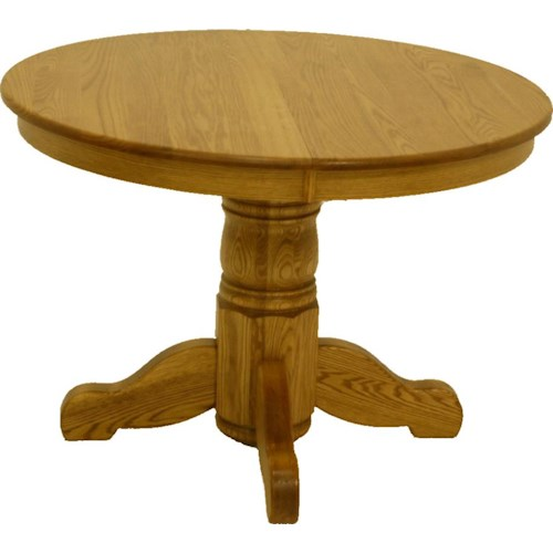 L j gascho furniture oak ridge 42 inch round solid oak for 42 inch round pedestal table