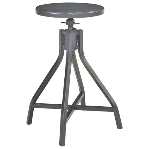 Magnolia home by joanna gaines accent elements industrial for Magnolia home furniture bar stools