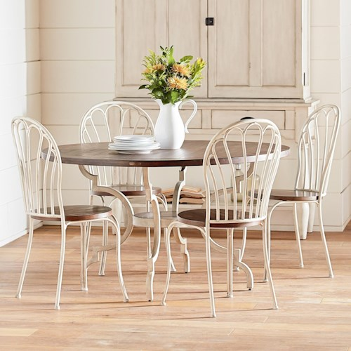 Magnolia home by joanna gaines primitive 5 piece round for Dining room joanna gaines