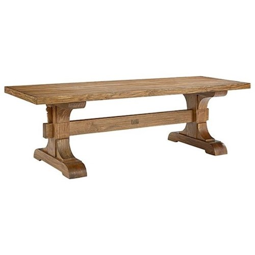 Magnolia home by joanna gaines farmhouse keyed trestle for Magnolia dining table