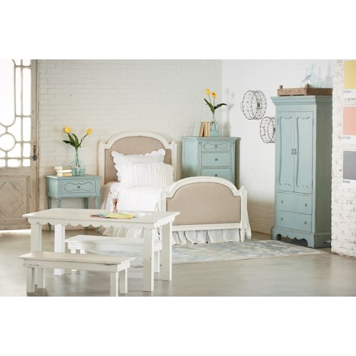 Magnolia home by joanna gaines french inspired queen bedroom group ivan smith furniture Magnolia home furniture online