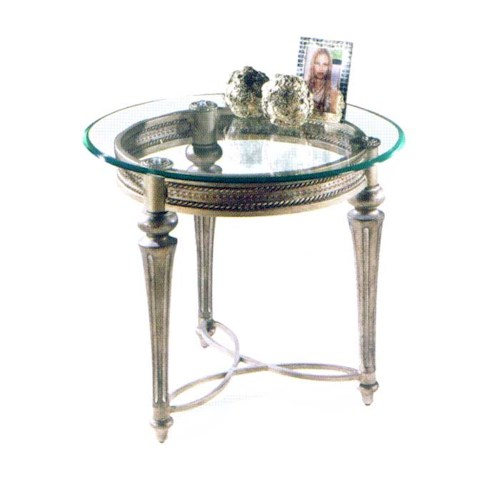 Magnussen Home Galloway Traditionally Styled Round End Table With Beveled Glass Top Beck 39 S