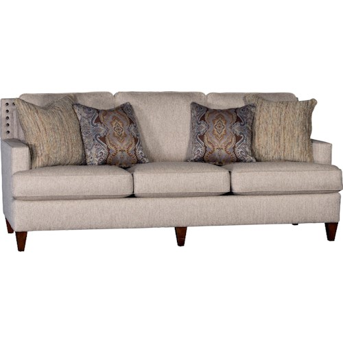 Mayo 3030 Sofa With Oversize Nailhead Trim Knight Furniture Mattress Sofa Sherman