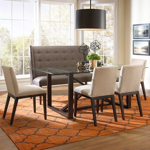 dining set with settee belfort furniture dining 5 piece set