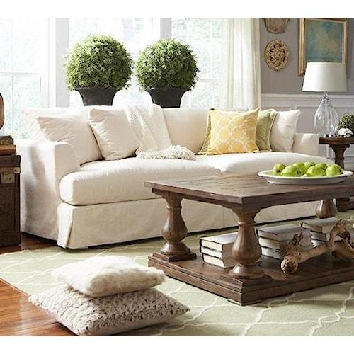 Uw Pillow Fort Modern : BeModern Cloud Grand, Extra Long Slipcover Sofa - Belfort Furniture - Sofa
