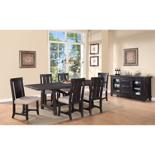 dining room group pilgrim furniture city casual dining room group