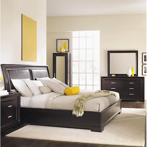 najarian brentwood 5 piece queen upholstered bedroom set