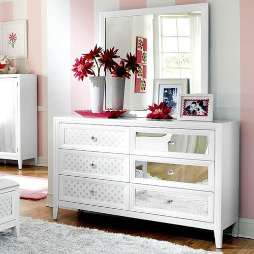 Bedroom Heater Bedroom Sets Mirror Youth Bedroom Sets For Boys Girly Bedroom Door Signs: 6 Drawer Dresser With Square Mirror