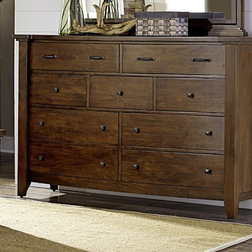 Napa Furniture Designs Whistler Retreat Solid Mango 9 Drawer Chest Beck 39 S Furniture Dressers