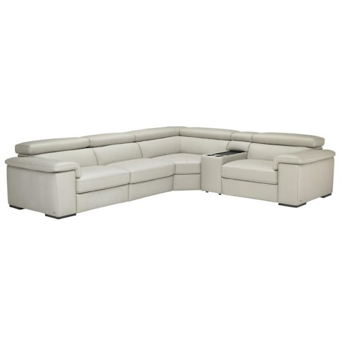 Natuzzi editions b620 5 piece contemporary power reclining for 5 piece reclining sectional sofa