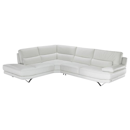 Natuzzi Editions B803 Contemporary L Shaped Sectional Sofa With Lumbar Suppor