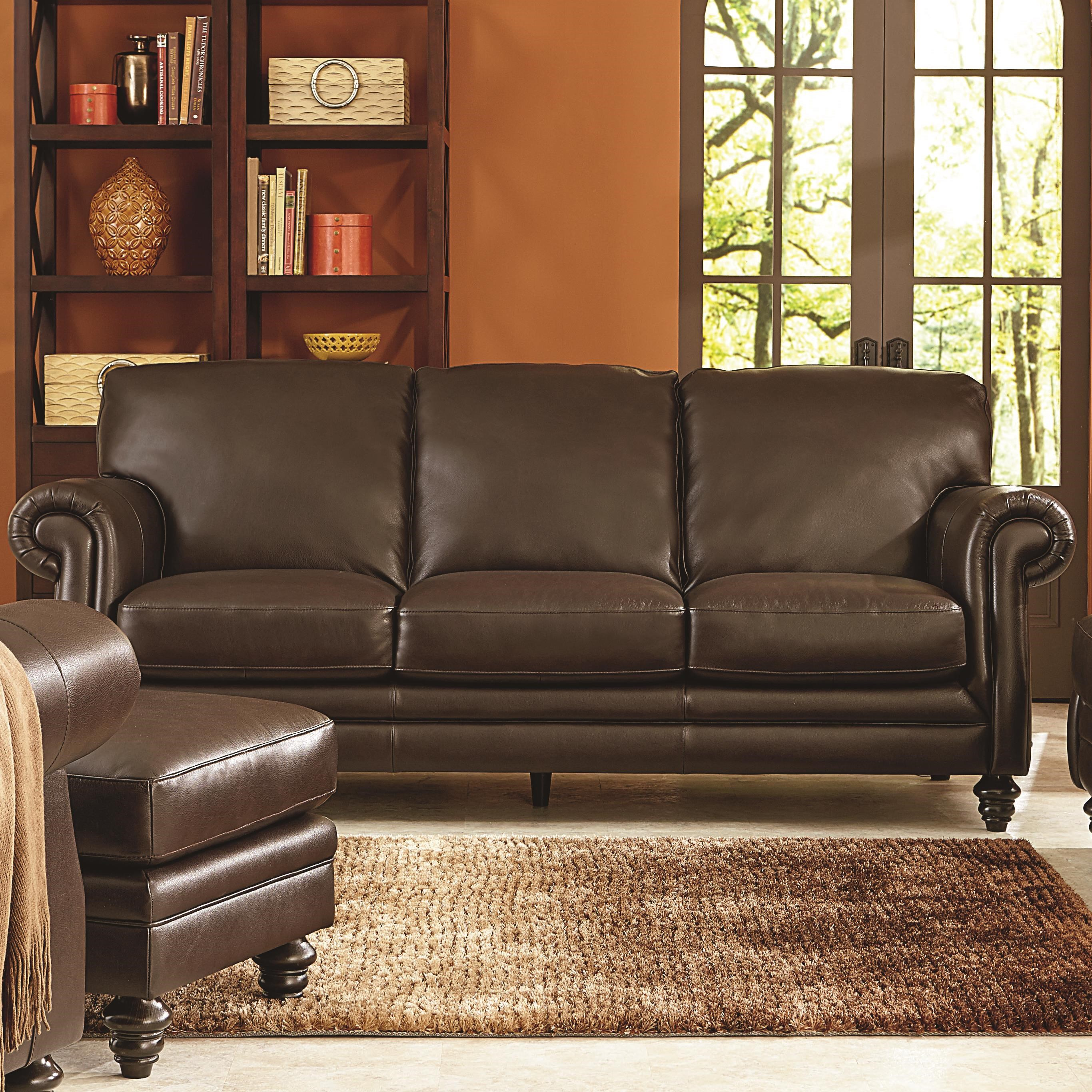 Natuzzi Editions B868 Traditional Sofa with Rolled Panel