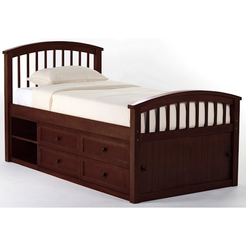 Ne Kids School House Twin Captain Bed W Storage Pilgrim Furniture City Captain 39 S Beds