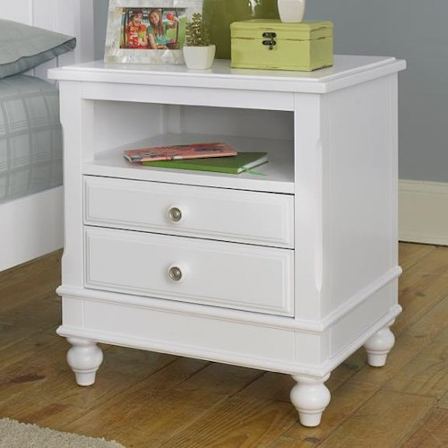 Ne kids lake house 2 drawer nightstand with open shelf dunk bright furniture night stands Lake home bedroom furniture