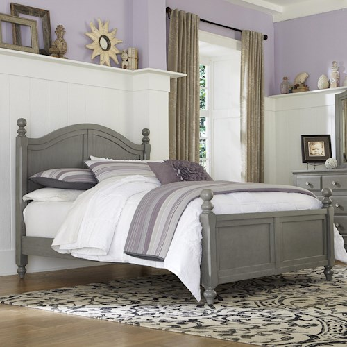 Ne kids lake house full bed with arched headboard pilgrim furniture city panel beds Lake home bedroom furniture