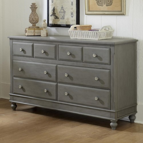 Ne kids lake house 8 drawer dresser with secret drawer pilgrim furniture city dressers Lake home bedroom furniture