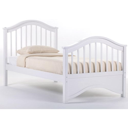 Ne Kids School House Twin Jordan Child 39 S Bed W Arched Headboard And Footboard Dunk Bright