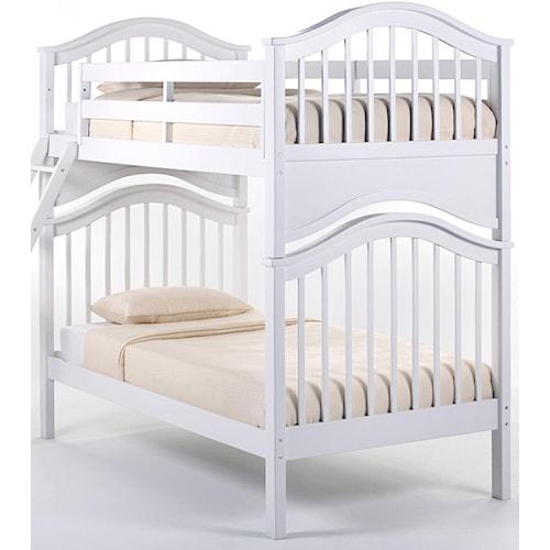 Ne Kids School House Jordan Twin Over Twin Bunk Bed Wayside Furniture Bunk Beds