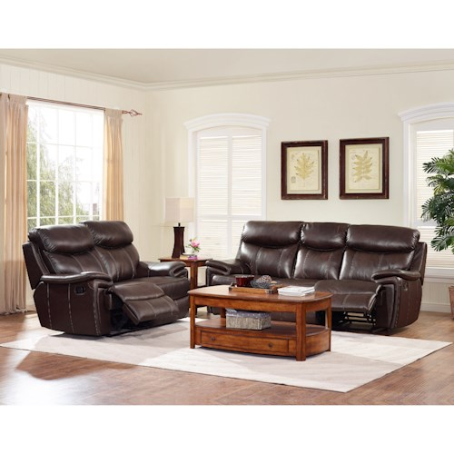 New classic aria power reclining living room group beck for Living room furniture groups
