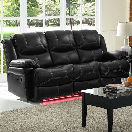 New Classic Flynn Contemporary Reclining Power Sofa With