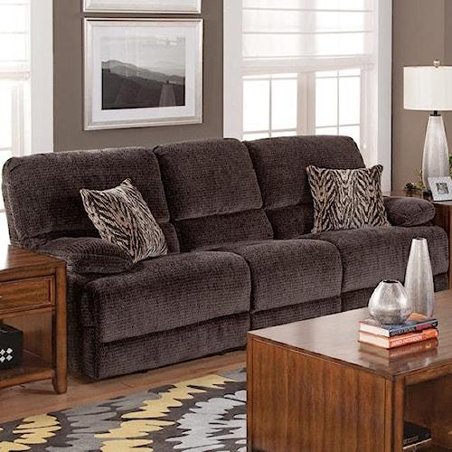 New Classic Idaho Casual Dual Power Reclining Sofa With