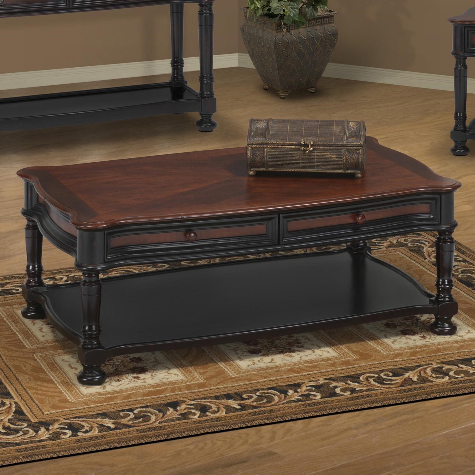 New Classic Jamaica Two Tone Cocktail Table With 2 Drawers
