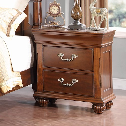 Burbank 2 drawer nightstand walker 39 s furniture night for Furniture stores in burbank