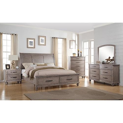 New Classic La Jolla Queen Bedroom Group Del Sol Furniture Bedroom Group Phoenix Glendale