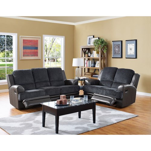 New Classic Rico Reclining Living Room Group Del Sol Furniture Reclining Living Room Group