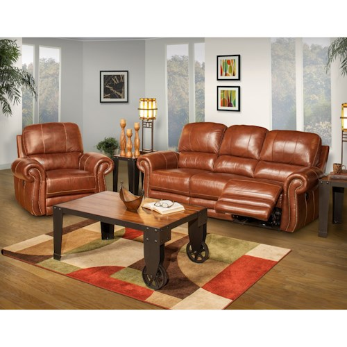 New Classic Rossi Power Reclining Living Room Group Adcock Furniture Reclining Living Room