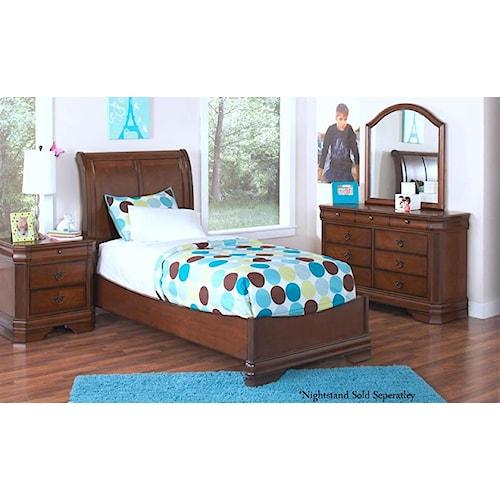 New Classic Sheridan Twin Bed Royal Furniture Bedroom Groups Memphis Jackson Nashville