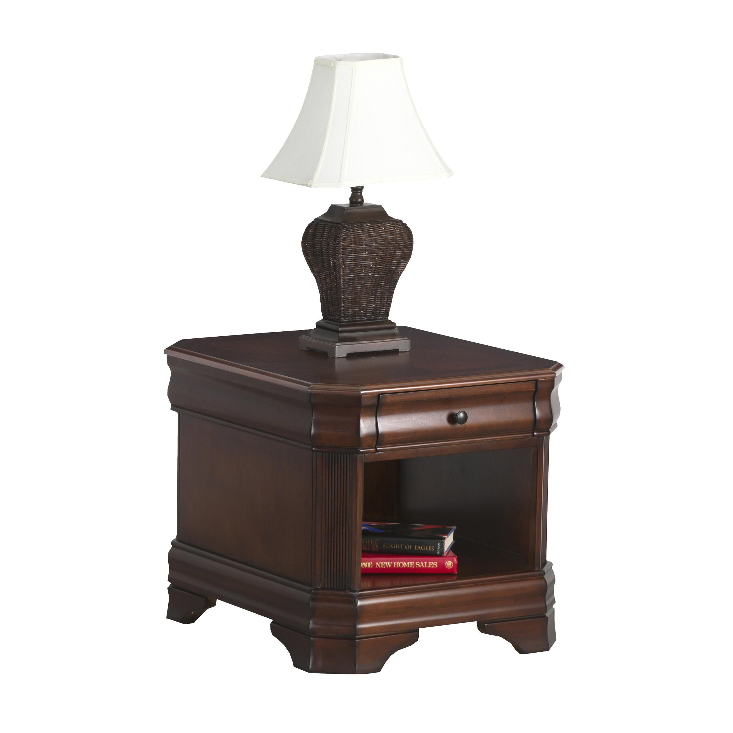 New Classic Sheridan End Table With Drawer And Base Shelf