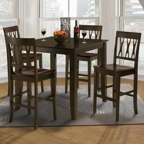 All Wood Dining Room Chairs: New Classic Style 19 Small Counter Height Table And Abbie