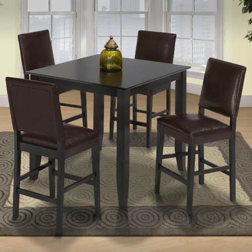new classic style 19 small pub table and upholstered chairs at wilcox