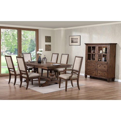 Formal Dining Room Group Sutton Manor By New Classic Wilcox Furniture Formal Dining Room