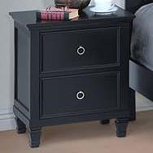 New Classic Tamarack Two Drawer Nightstand Boulevard Home Furnishings Night Stands