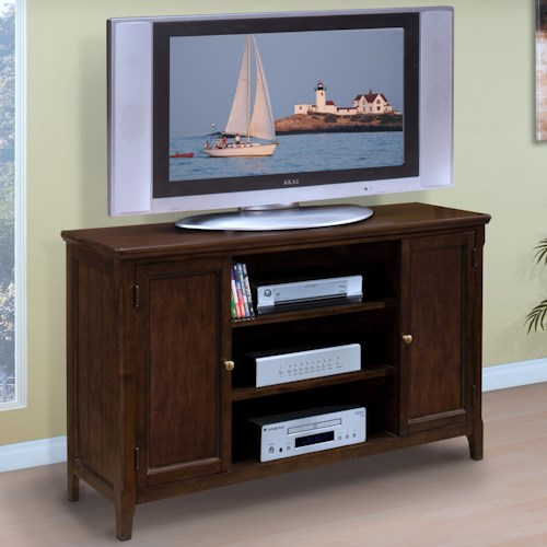 New Classic Timber City 60 Door Tv Stand With Open Center