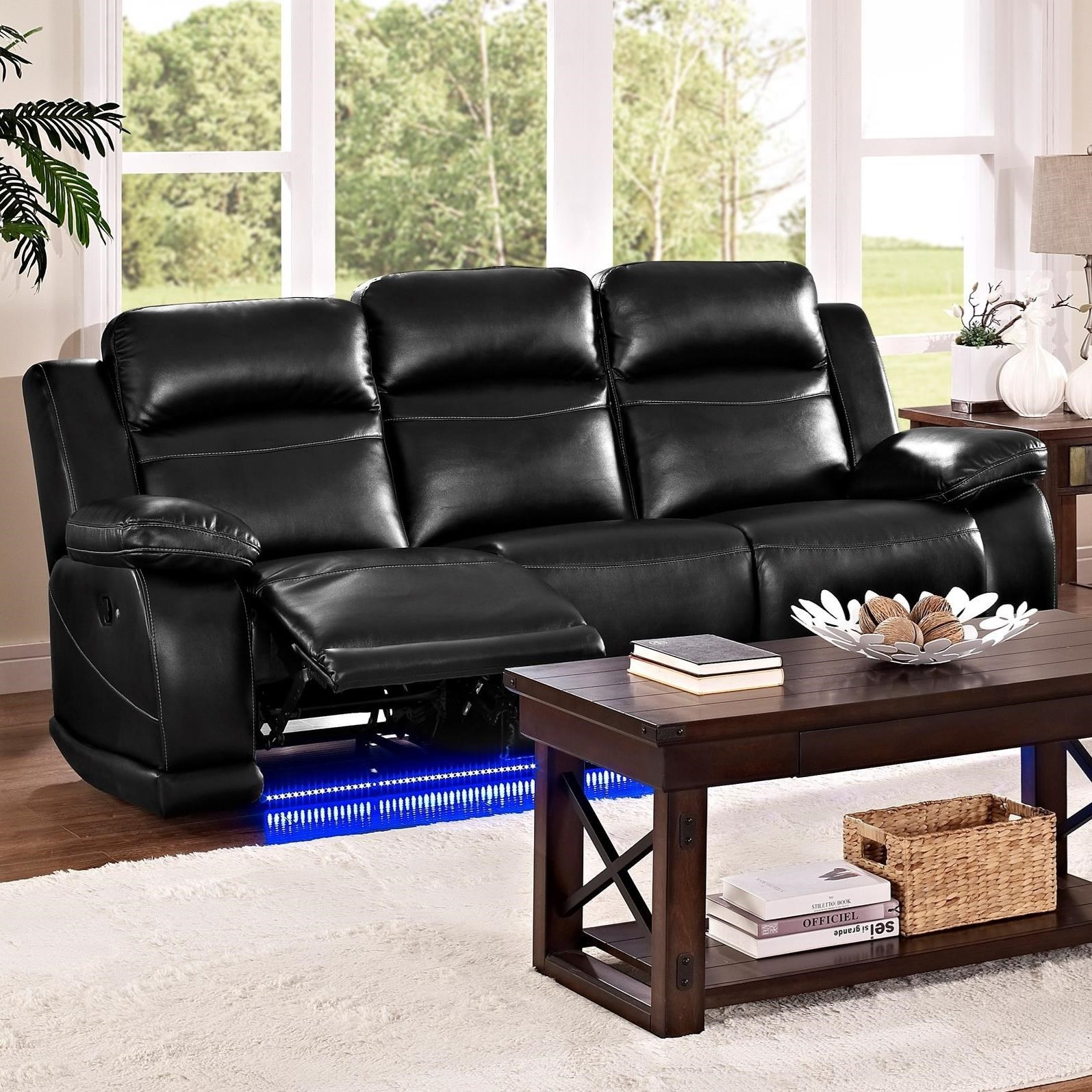 New Classic Vega Casual Reclining Sofa with Lighted Base