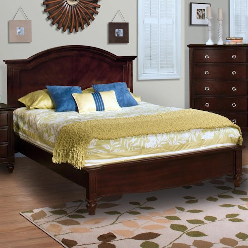 New Classic Victoria Queen Panel Bed With Low Profile Footboard Wilson 39 S Furniture Panel