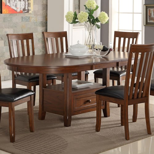 New Classic Wilson Round Dining Table With Storage Shelf