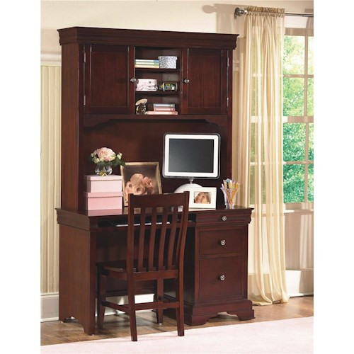 New Classic Versaille Youth Desk Hutch Dunk Bright