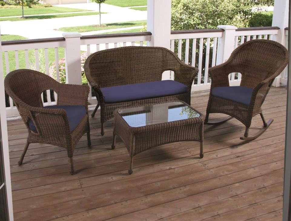 NorthCape International Darby Outdoor Four Piece Chat Set John V Schultz Fu