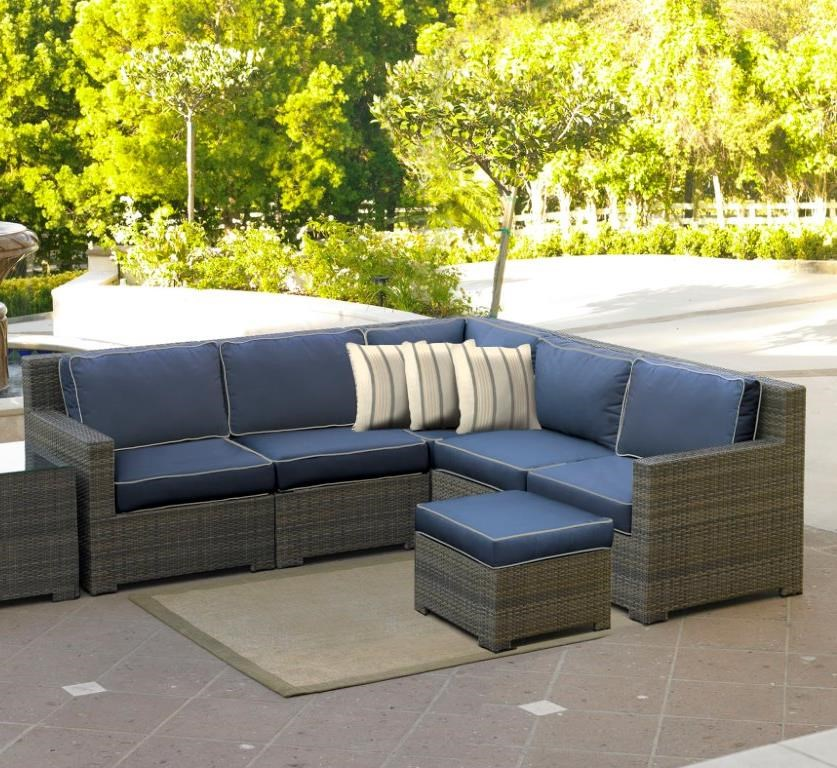 NorthCape International Malibu Outdoor 4 Seat Sectional John V Schultz Furn