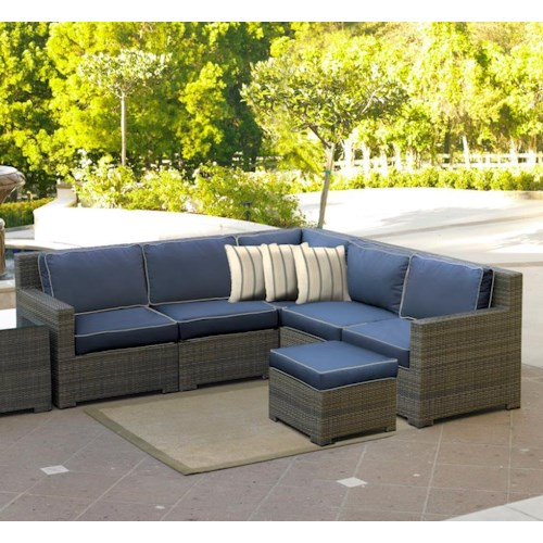 Northcape international malibu outdoor 4 seat sectional for Malibu outdoor sectional sofa